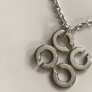 NWT Coach Sterling Silver Double Strand NecklaceNWT for sale